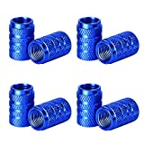 eBoot Tire Stem Valve Caps Aluminium Car Dustproof Caps Tire Wheel Stem Air Valve Caps, 8 Pieces (Blue)