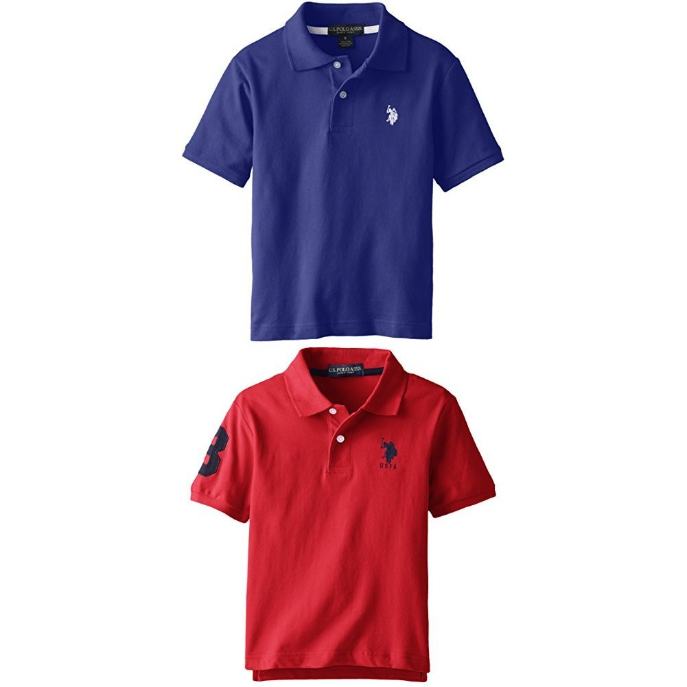 U.S. Polo Assn. Boys' Solid Short Sleeve Polo Shirt SE96
