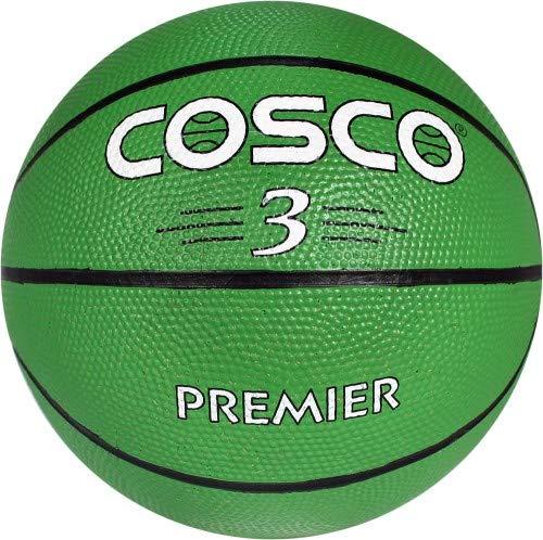 Cosco Premier Size-3 (Green) Basketball, Size 3 (Multicolour)