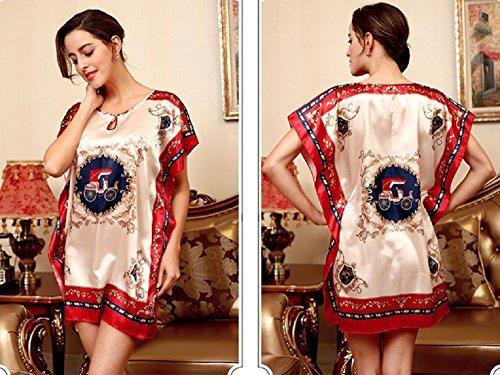 Red Donna da notte Camicia VERNASSA wqF6Aq