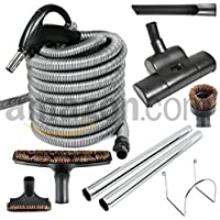 CENTRAL VACUUM CLEANING ACCESSORIES WITH 35 HOSE AND AIR DRIVEN POWER NOZZLE