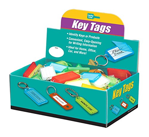 Lucky Line Key Tag with Flap & Split Ring,100 Per Box; As...