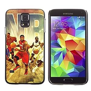 // PHONE CASE GIFT // Duro Estuche protector PC Cáscara Plástico Carcasa Funda Hard Protective Case for Samsung Galaxy S5 / Equipo de baloncesto /