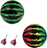 BNMK Swimming Pool Ball, Simulation Watermelon Reusable PVC Fruit Shape Beach Swimming Pool Game Ball for Drib