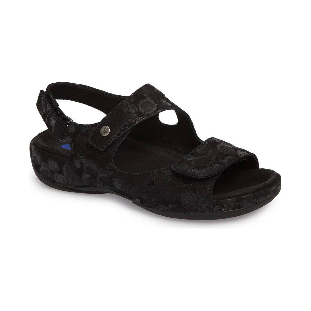Wolky Women's Liana Sandal B07BHZ4K5V 37 M EU|Circles Black