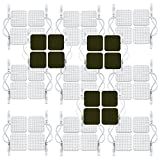 Medical electrode 48Pcs premium square comfortable pads for HealthmateForever electronic palm size handheld massagers (White Color)