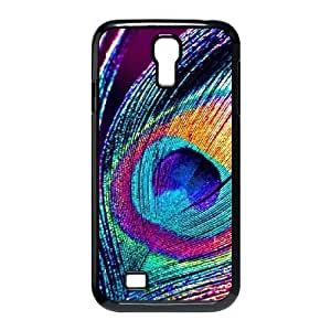 Custom Cover Case with Hard Shell Protection for SamSung Galaxy S4 I9500 case with Peacock Feather lxa#234597