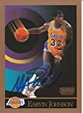 1990 Skybox Los Angeles Lakers Magic Johnson Signed Auto Card IN PERSON PROOF - Basketball Autographed Cards