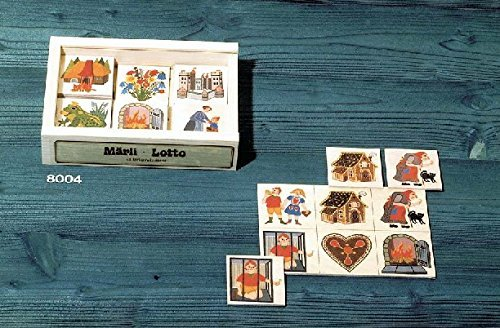 Atelier Fischer Wooden Fairy Tale Lotto Game in Wooden Box (24 Tiles / 4 Wooden Playing Boards) ()