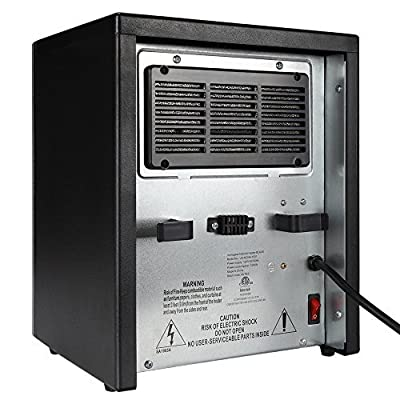 Homegear 1500 SqFt Infrared Electric Portable Space Heater Black +Remote Control (Certified Refurbished)