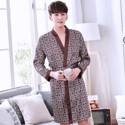 Mangeoo pijamas de los hombres, verano, hielo fino, primavera y verano, pijamas
