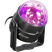 SOLMORE Mini 5W Disco RGB Stimme Aktiviert LED Lichteffekt Bühnenbeleuchtung Kristalleffekt Lampe Projektor für Club Party