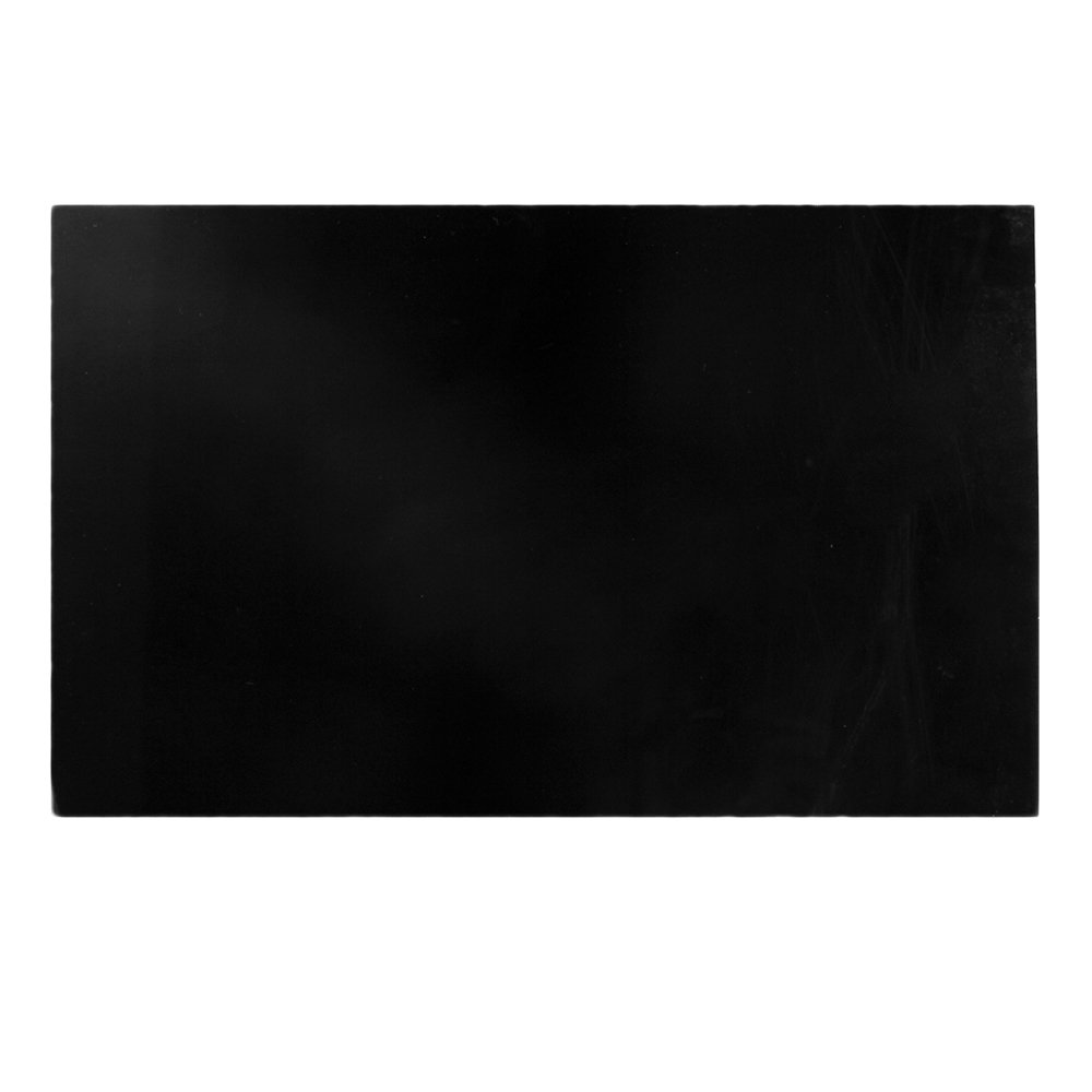 BQLZR 2.3mm Thickness Black PVC 3Ply Guitar Bass Blank Pickguard Sheet with Protective Film N22728