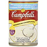Campbell's Cream of Mushroom Soup, 284 ml (Pack of 12)