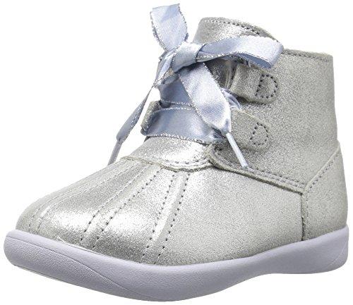 UGG Girls T Payten Metallic Boot, Silver, 12 M US Little - Uggs With Zipper