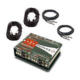 Radial Engineering JDI Duplex Mk4 Stereo DI Passive Direct Box w/ 4 Cables