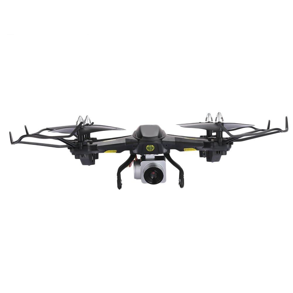 Springdoit Dron Quadcopter Inteligente Alto Rendimiento ABS HD Pixel un botón Quitar los niños Negro