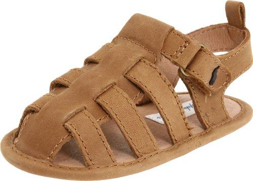 Ralph Lauren Layette Darrell II Crib Shoe (Infant/Toddler), Tan Crazy Horse, 4 M US Toddler