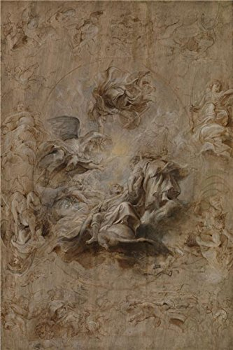 [Oil Painting 'Peter Paul Rubens - Multiple Sketch For The Banqueting House Ceiling,1628-1630', 24 x 36 inch / 61 x 92 cm , on High Definition HD canvas prints, Bath Room, Foyer And Nursery] (Super Deluxe Chewbacca Costumes)