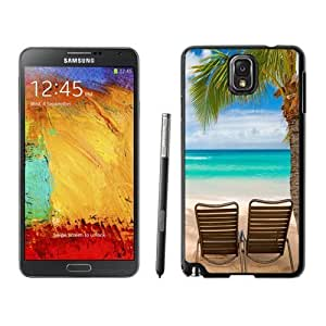 NEW Unique Custom Designed Samsung Galaxy Note 3 N900A N900V N900P N900T Phone Case With Tropical Beach Relaxation_Black Phone Case