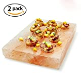 Tker Himalayan Natural Salt cooking Blocks Crystal Plate for BBQ grilling, Organic and Pure Rose Brick (8