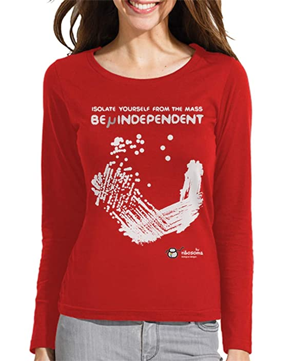 Camiseta biologia para Mujer con siembra en placa de petri