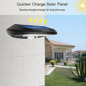 Benuo Solar Motion Sensor Lights Outdoor Waterproof Security Wireless 30 LED with Sensor Auto Switch Wall-mount Light for Garden/Yard/Pathway/Lawn Pack of 2