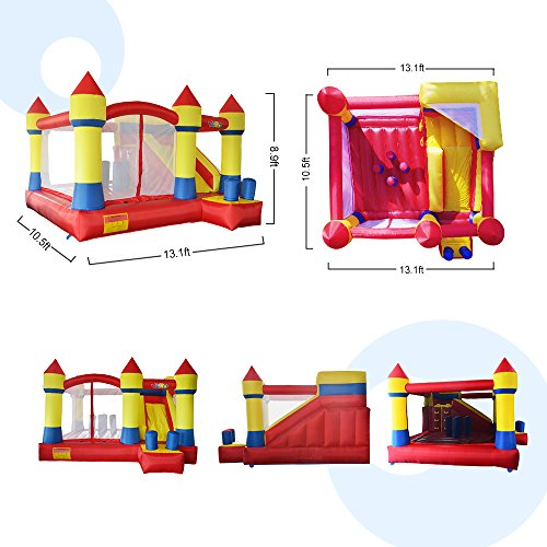 YARD Bounce House with Slide Obstacle Children Outdoor Jump Castle with Blower (13.1' x 12.5' x 8.2') by YARD (Image #5)