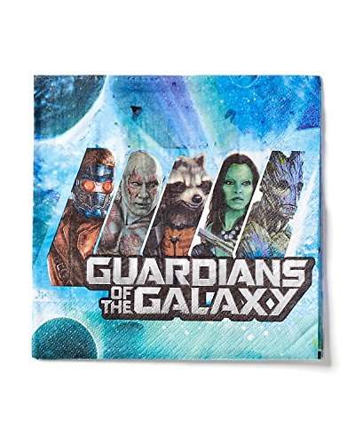 Guardians of the Galaxy Lunch Napkins, Pack of 16, Party Supplies (Guardians Of The Galaxy Decorations)