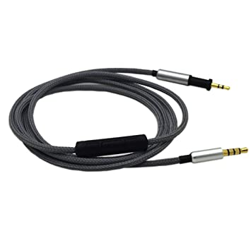 1,2 m Cable de repuesto con mando a distancia Control de volumen Skip Toggle