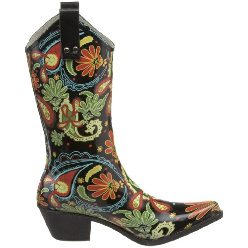 Paisley Boot Nomad Black Women's Yippy Rain rgqWXZq