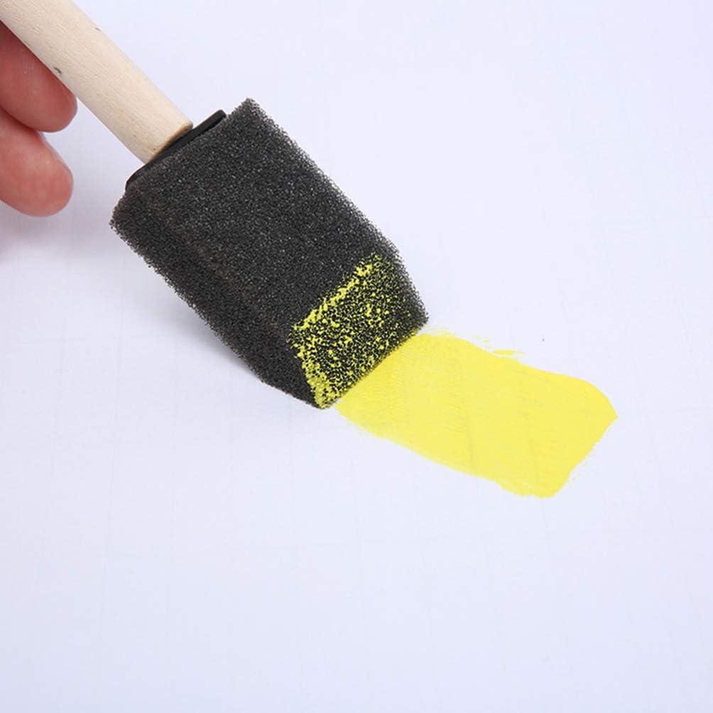 STOBOK 60pcs Small Foam Paint Brush Sponge Foam Brush Painting Set Wood Handle 1 Inch Paint Brushes Tools Painting Set for Kids