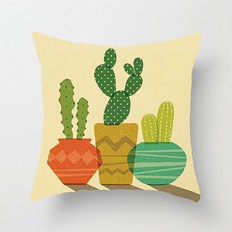 XLGJZT Fundas De Cojines Decoración para El Hogar Cactus ...