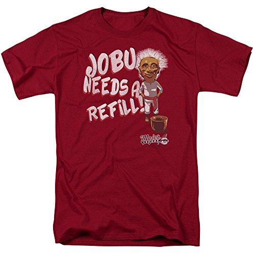 Major League Sports Comedy Movie Baseball Jobu Needs A Refill Adult T-Shirt Tee