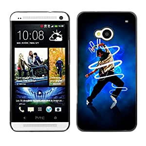 MOBMART Carcasa Funda Case Cover Armor Shell PARA HTC One M7 - Dancing Midst Electricity