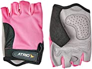 Luvas para Esportes Dedo Curto Acolchoada - BI127 Atrio PP Cinza/Rosa