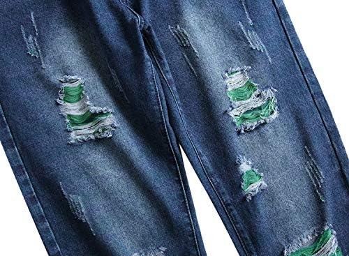 51hk3FlsTIL. AC LAMKUKU Men's Ripped Jeans Slim Fit Casual Distressed Denim Pants    Product Description