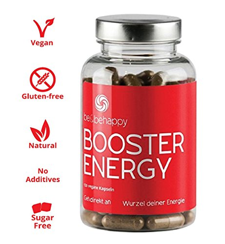Energy Booster Vegan Supplement with Digestive Herbs - Metabolism Booster Capsules for Immune System - Black Salt and Organic Spices - Caffeine Free - 120 Capsules
