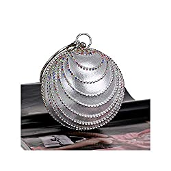 Women Evening Round Ball Crystal Bag