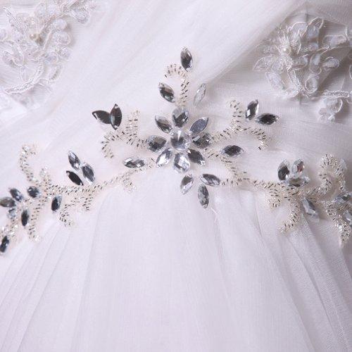 Kristall Applikation Elfenbein Ausschnitt Drapiert Linie Brautkleider Perlen Kleidungen Dearta A Hof Damen Schleppe Mit Herz Tuell ZXxnUqB6