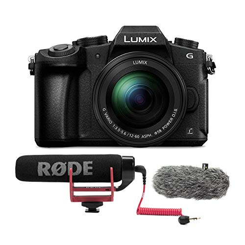 PANASONIC LUMIX G85 4K Mirrorless Camera with Rode On-Camera Microphone and Wind Shield Bundle (3 Items)