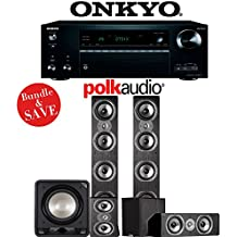 Polk Audio TSi 500 5.1-Ch Home Theater Speaker System with Onkyo TX-NR777 7.2-Ch Network AV Receiver