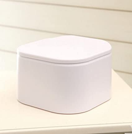 Table Top Small Mini Desktop Trash Can Plastic Countertop Trash Can/5  Colour (White