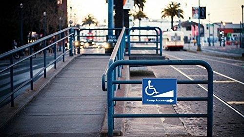"10X10"" Handicap Disabled Wheelchair Ramp Access Signs Window Door Self Adhesive Bumper Sticker Decals Photo #2"