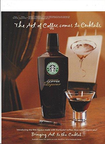 Periodical ADVERTISEMENT For 2005 Starbucks Cream Liqueur:The Art of Coffee