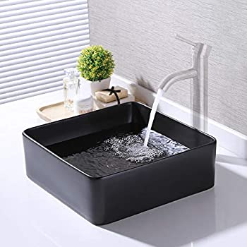 KES Bathroom Vessel Sink 14 Inch Above Counter Square ...