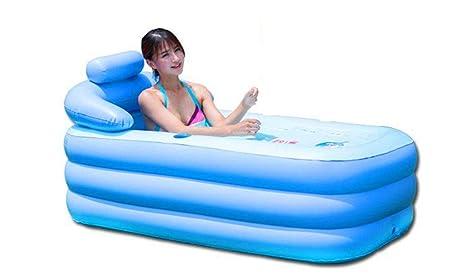 Bañera inflable baño Inflable adultos Plegable más gruesa piscinas ...