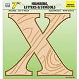 HY-KO PROD Wood Grain Letter X, 7'' (GB-7/X)