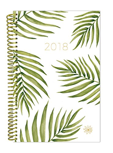 "bloom daily planners 2018 Calendar Year Daily Planner - Passion/Goal Organizer - Monthly and Weekly Datebook and Calendar - January 2018 - December 2018 - 6"" x 8.25"" - Palm Leaves"