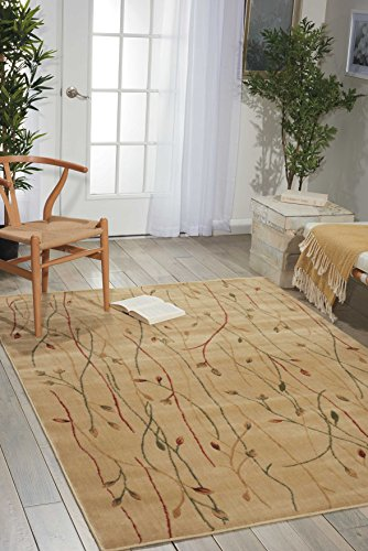 (Nourison Cambridge (CG04) Ivory Rectangle Area Rug, 2-Feet by 2-Feet 9-Inches (2' x 2'9